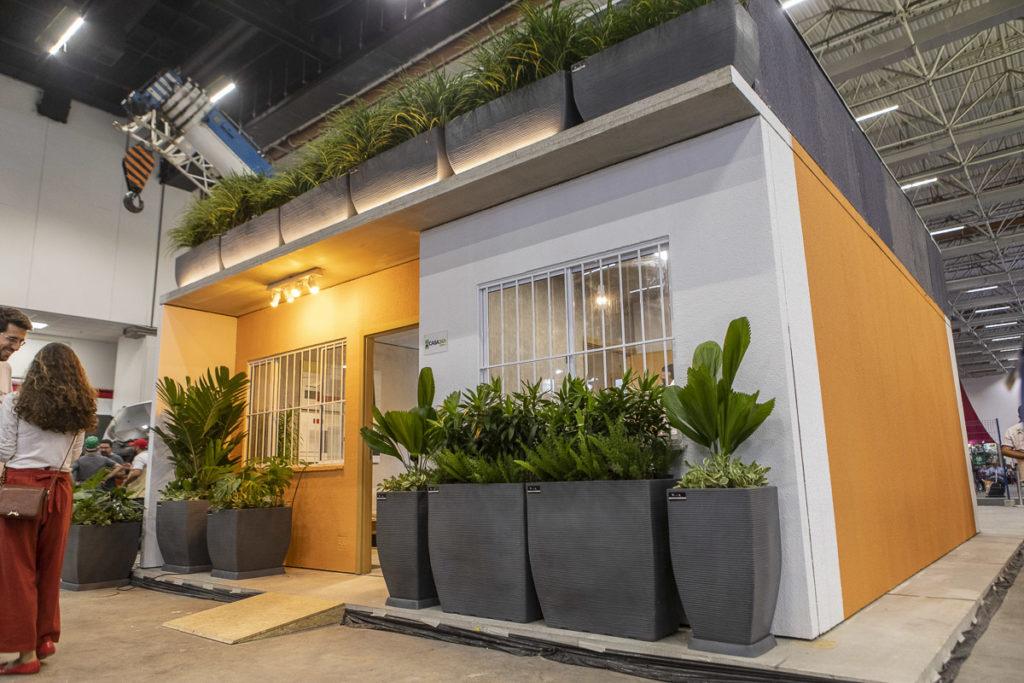 Casa24h construída pela Atai Engenharia na Feicon Batimat 2019