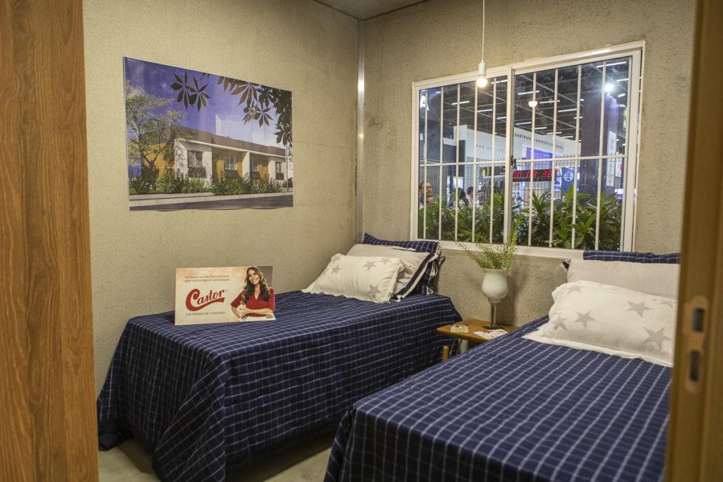 Dormitório da Casa24h na Feicon Batimat 2019